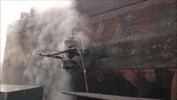Hydroblasting Ship hull